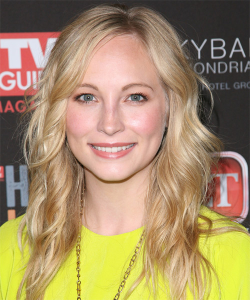 Candace Accola Long Wavy Casual   Hairstyle   - Light Blonde