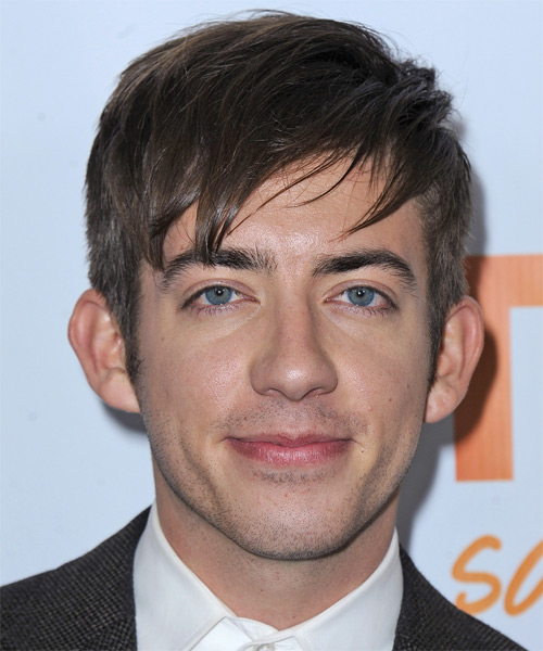 Kevin McHale Short Straight Casual   Hairstyle with Layered Bangs  (Chocolate)