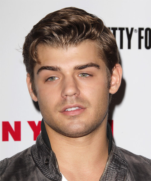 Garrett Clayton Short Straight Casual    Hairstyle   - Light Caramel Brunette Hair Color