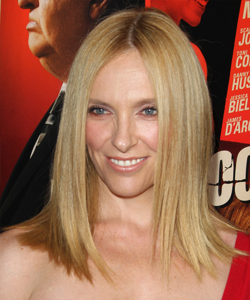 Toni Collette Medium Straight Formal    Hairstyle   -  Honey Blonde Hair Color