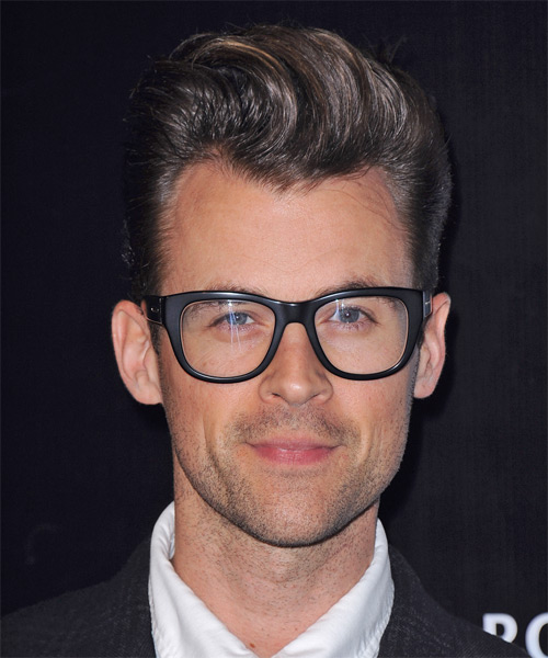 Brad Goreski Short Straight Formal    Hairstyle   - Dark Brunette Hair Color