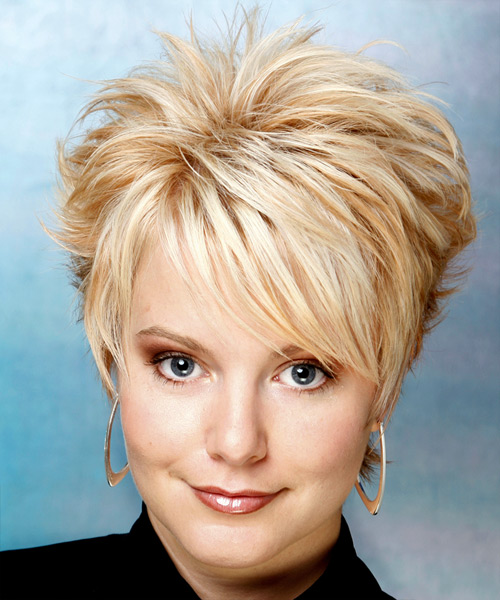 Short Straight Alternative    Hairstyle   - Light Golden Blonde Hair Color