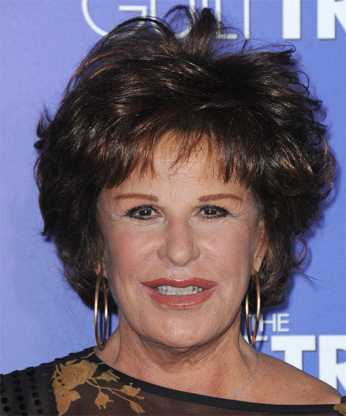 Lainie Kazan Short Straight Casual   Hairstyle with Layered Bangs  - Dark Brunette