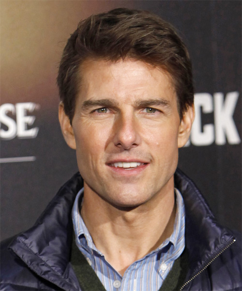Tom Cruise Short Straight    Brunette   Hairstyle