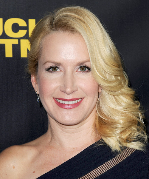 Angela Kinsey Medium Wavy Formal   Hairstyle   - Light Blonde (Golden)