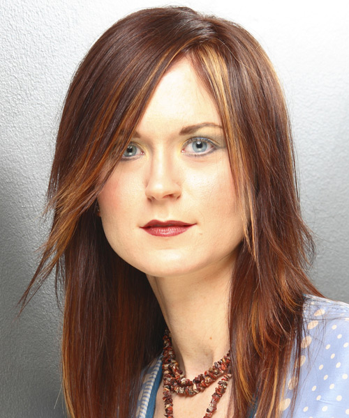 Long Straight Alternative    Hairstyle   -  Brunette Hair Color