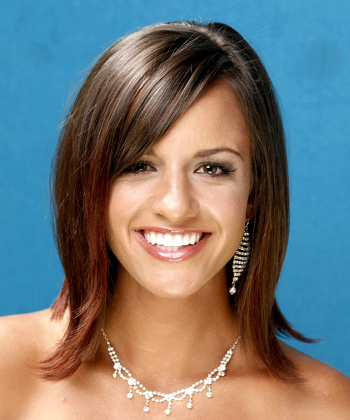 Long Straight Formal    Hairstyle   -  Brunette Hair Color