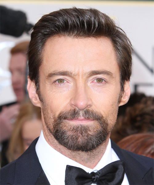 Hugh Jackman Short Straight Formal    Hairstyle   -  Brunette Hair Color