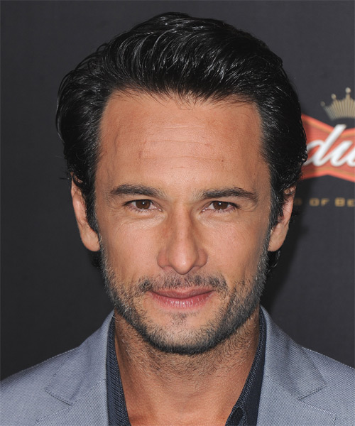 Rodrigo Santoro Short Straight Formal   Hairstyle   - Black