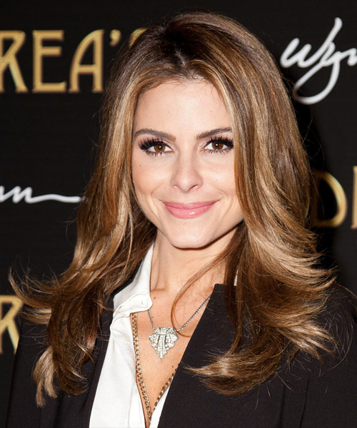 Maria Menounos Long Straight Formal   Hairstyle   - Medium Brunette