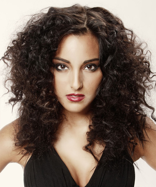 Long Curly Casual    Hairstyle   - Mocha Hair Color