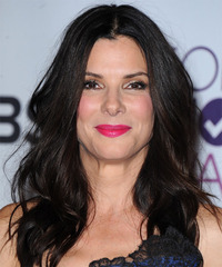 Sandra Bullock Long Straight Casual    Hairstyle   - Black  Hair Color