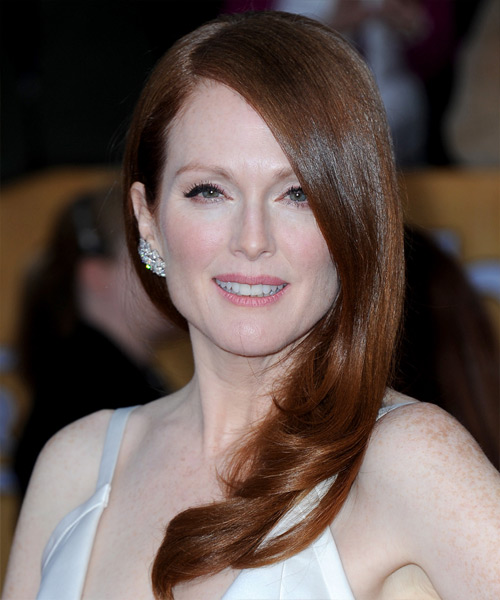 Julianne Moore Long Straight Formal    Hairstyle