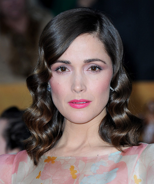 Rose Byrne Medium Wavy Formal   Hairstyle