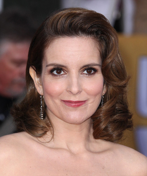 Tina Fey Medium Wavy Formal   Hairstyle