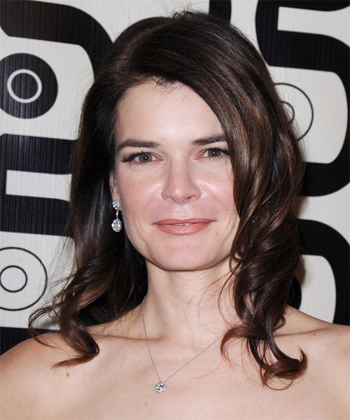 Betsy Brandt Long Wavy Formal   Hairstyle   - Dark Brunette (Mocha)