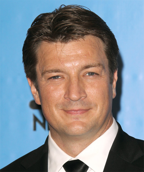 Nathan Fillion Short Straight Casual   Hairstyle   - Medium Brunette
