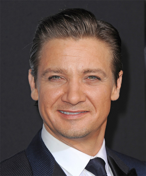 Jeremy Renner Short Straight Formal   Hairstyle   - Dark Brunette