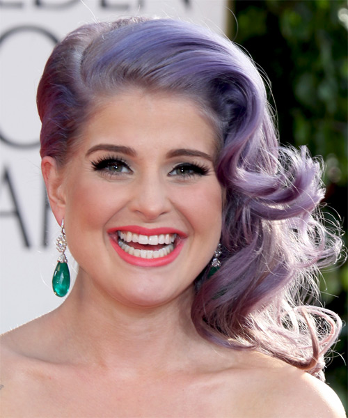 Kelly Osbourne Updo Medium Curly Formal  Updo Hairstyle