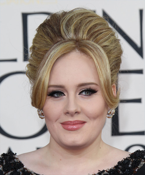 Adele  Long Straight Formal   Updo Hairstyle   -  Blonde Hair Color with Light Blonde Highlights