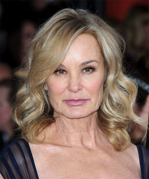 Jessica Lange Medium Wavy Casual   Hairstyle   - Medium Blonde