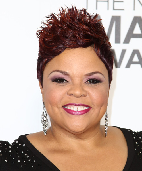 Tamela J. Mann Short Straight Alternative    Hairstyle   -  Burgundy Red Hair Color