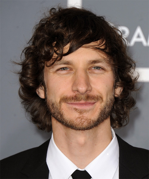 Gotye Long Wavy Casual   Hairstyle with Side Swept Bangs  - Dark Brunette (Chocolate)