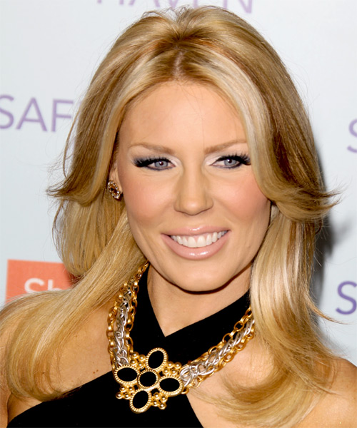 Gretchen Rossi Long Straight Casual   Hairstyle   - Medium Blonde (Honey)