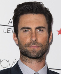 Adam Levine Short Straight   Black    Hairstyle