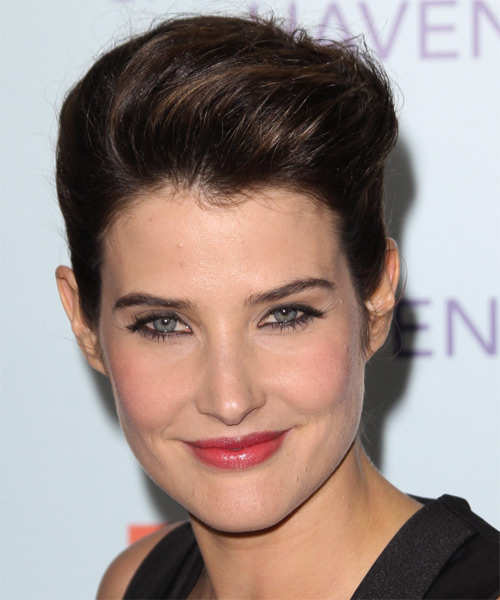 Cobie Smulders Short Straight Formal   Hairstyle   - Dark Brunette