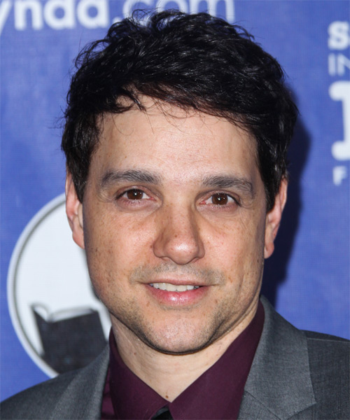 Ralph Macchio Short Wavy Casual   Hairstyle   - Black