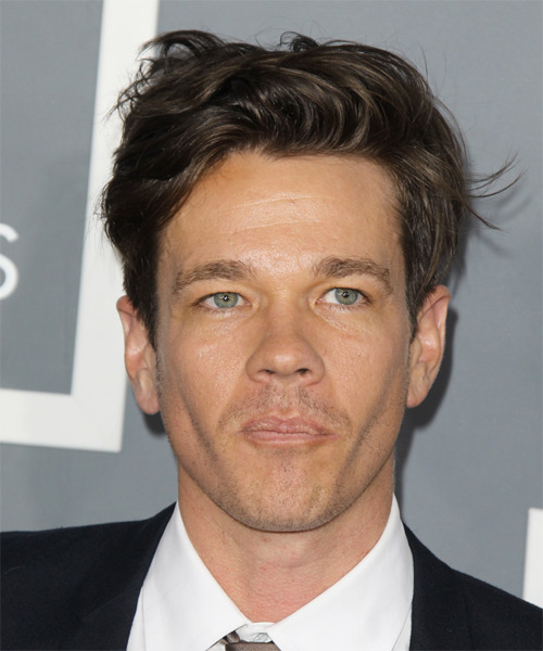 Nate Ruess Short Straight Casual   Hairstyle   - Medium Brunette