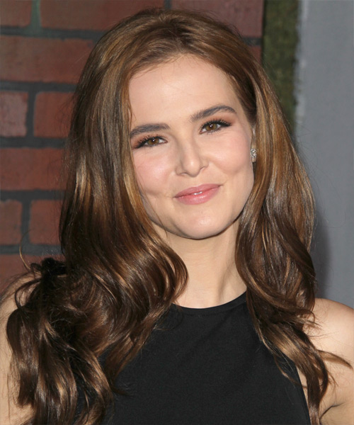Zoey Deutch Long Wavy Formal   Hairstyle   - Medium Brunette