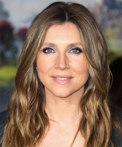 Sarah Chalke Long Wavy Casual   Hairstyle   - Dark Blonde