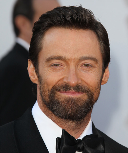 Hugh Jackman Short Straight Formal   Hairstyle   - Dark Brunette