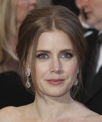 Amy Adams  Long Straight Formal   Updo Hairstyle   - Light Chestnut Brunette Hair Color