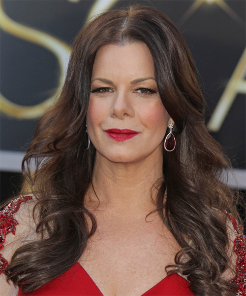 Marcia Gay Harden Long Wavy Casual   Hairstyle   - Dark Brunette