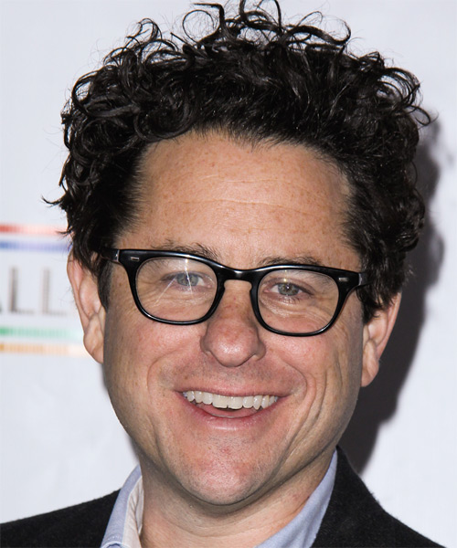 J J Abrams Short Curly Casual   Hairstyle   - Black