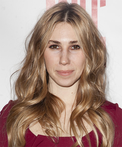 Zosia Mamet Long Straight Casual    Hairstyle   -  Strawberry Blonde Hair Color