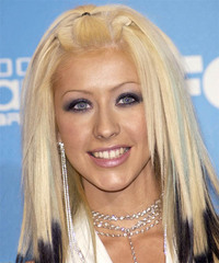 Christina Aguilera Long Straight Alternative    Hairstyle