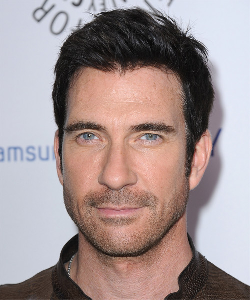 Dylan McDermott Short Straight Casual   Hairstyle   - Black