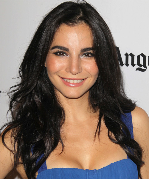 Martha Higareda Long Straight Casual Hairstyle Black