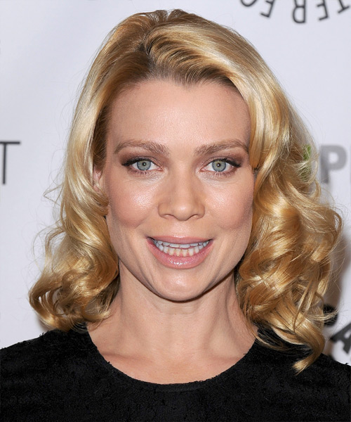 Laurie Holden Medium Curly Formal    Hairstyle