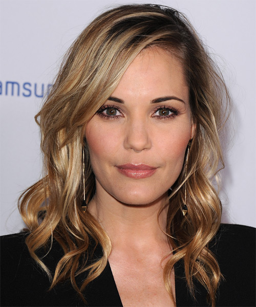 Leslie Bibb Long Wavy Casual   Hairstyle