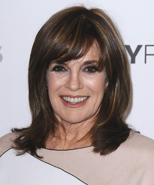 Linda Gray Medium Straight Formal   Hairstyle