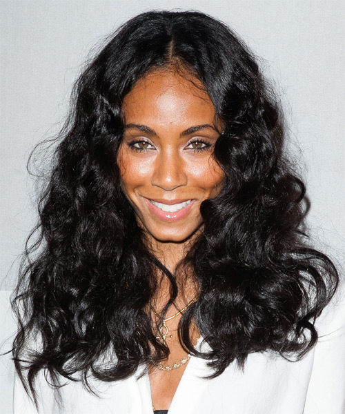 Jada Pinkett Smith Long Wavy Casual   Hairstyle