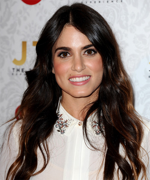 Nikki Reed Long Wavy Casual   Hairstyle   - Dark Brunette