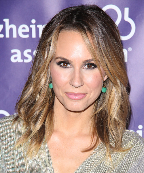 Keltie Colleen Medium Wavy Casual   Hairstyle