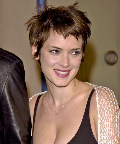 Winona Ryder Short Straight     Hairstyle