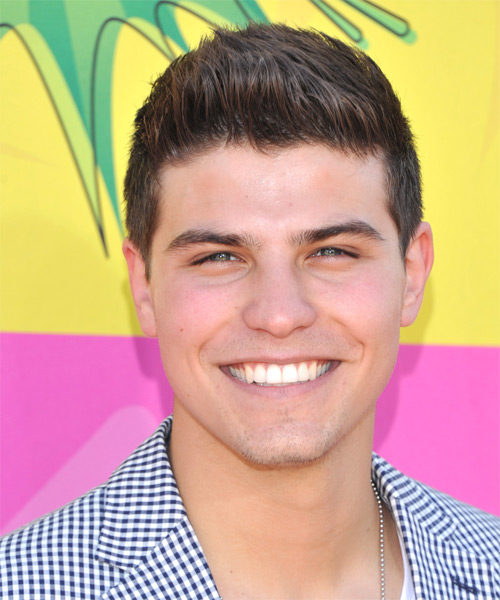 Luke Bilyk Short Straight Casual   Hairstyle